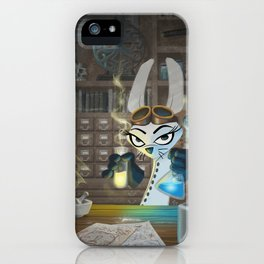 The Lair of the Dark Bunny iPhone Case