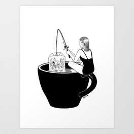 Laid-Back Time Art Print