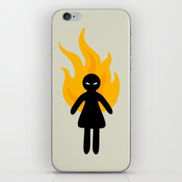 Beware of The Angry Girl iPhone Skin