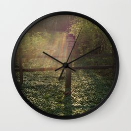 Peaceful Forest Bed Wall Clock