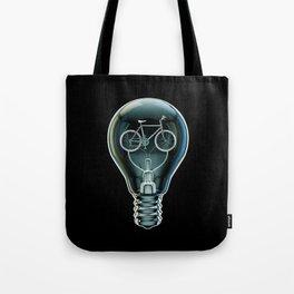 Dark Bicycle Bulb Tote Bag