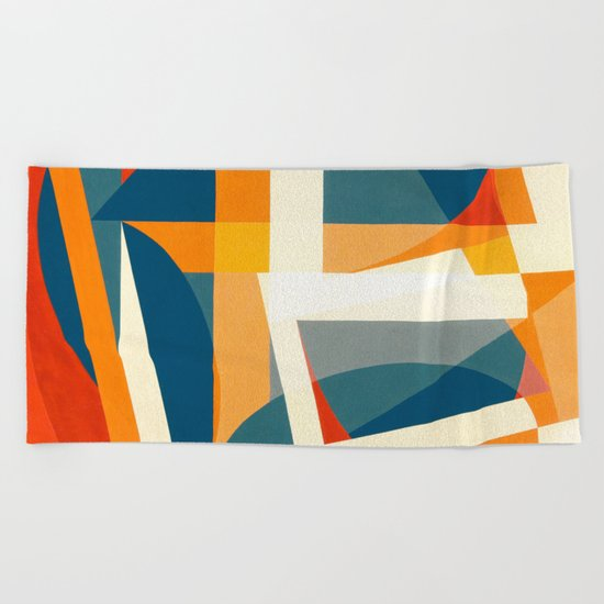 Geometric Joy Beach Towel