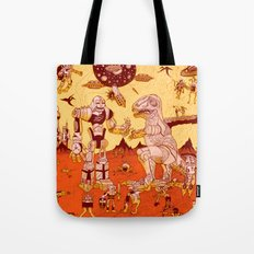 War of the Worlds (man-child edition)...red Tote Bag