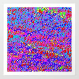 Abstract Design with mostly Pink, Red, and Blue. Art Print