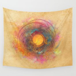 Sun fractal Wall Tapestry