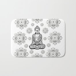 Buddha, HOME DECOR,with hand-painted Mandala Clouds,iPhone case,iPhone cover,iPhone skin,Laptop skin Bath Mat