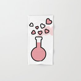 Pink Love Magic Potion in a Laboratory Flask Hand & Bath Towel