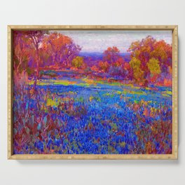 Julian Onderdonk Field of Blue Bonnets Serving Tray