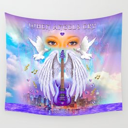 When Angels Cry Wall Tapestry