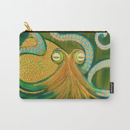 Green Octopus Carry-All Pouch