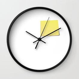 The Devil is in the detail: Post-it Wall Clock