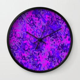 purple and pink illusion Wall Clock