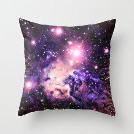 Fox Fur Nebula : Pink Purple Galaxy Throw Pillow