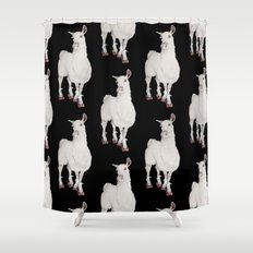 LLAMA IN L.A. Shower Curtain