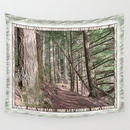 SHADOWS ON A WOODLAND PATH Wall Tapestry
