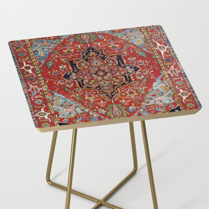 Heriz  Antique Persian Rug Print Side Table