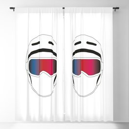 Snowboard Helmet and Goggles Blackout Curtain