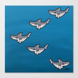 Little sharks Canvas Print