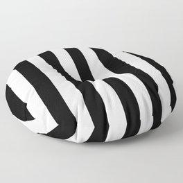 Vertical Stripes (Black/White) Floor Pillow