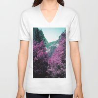 yosemite V-neck T-shirts featuring Yosemite by Richard PJ Lambert