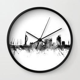 Portsmouth England Skyline Wall Clock