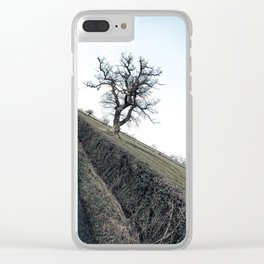 winter british countryside Clear iPhone Case