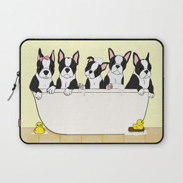 Boston Puppies in a Tub Laptop Sleeve