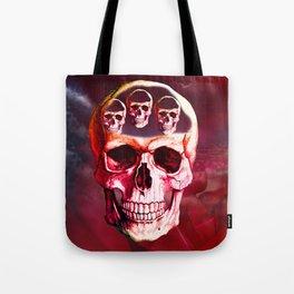 Funny Skull Tote Bag