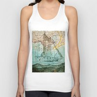 sailboat Tank Tops featuring Mom's Sailboat by Brittany Rae