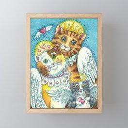 PURRS IN HEAVEN Framed Mini Art Print