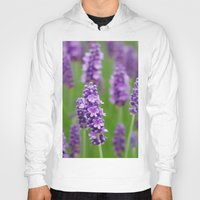 lavender Hoodies featuring lavender by GISMANA