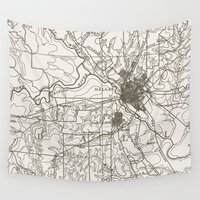 dallas Wall Tapestries featuring Dallas Map by Zeke Tucker