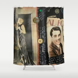 Close Your Eyes Jazz age glamour Shower Curtain