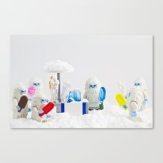 Yeti Freeze Scream Canvas Print