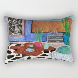 Mid Century Desert Home Rectangular Pillow