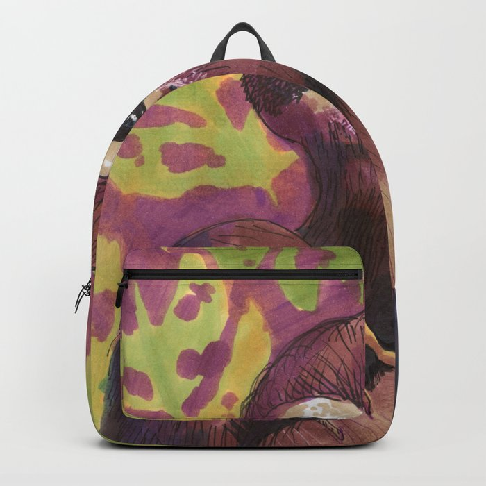 sloth and leafs Backpack