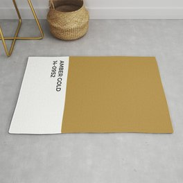 Amber Gold Pantone Chip • Ochre • Fall • Jewel Tone • Warmth • Minimal Design • Typography • Graphic Rug