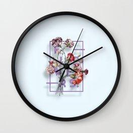 Flowers Bloom Botanicals Vintage Illustration Poster #3 Wall Clock