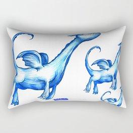 Daily Doodles - Blue dragons Rectangular Pillow