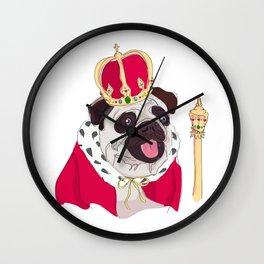 The Royal Pug Wall Clock