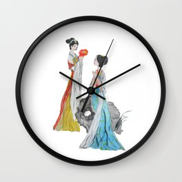 Two ancient Chinese beauties Wall Clock