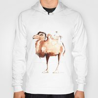 camel Hoodies featuring Camel by Katrin Kadelke