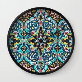 Traditional ceramic tile design Portugal Terrazzo Blobs Wall Clock