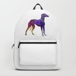 Arabian Greyhound dog in watercolor Backpack