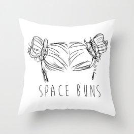 Space Buns Throw Pillow
