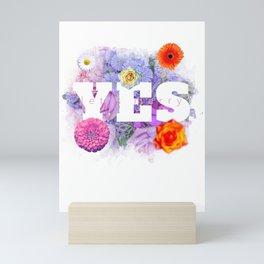 Yes Let's Marry - Amazing Yes Design Mini Art Print