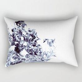 floating roots blue Rectangular Pillow
