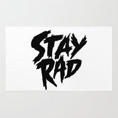 Stay Rad (on White) Rug