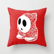 ShyGuy #CrackedOutBadGuys Throw Pillow