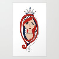 american Art Prints featuring American  by Gabriela Borges